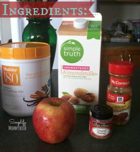 Apple Pie Protein Smoothie Ingredients | DaniSchnakenberg.com