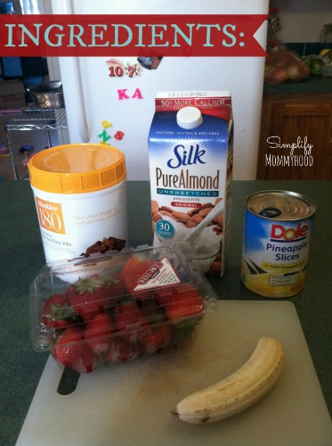 Banana Split Protein Smoothie Ingredients @ DaniSchnakenberg.com
