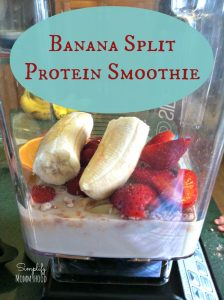 Banana Split Protein Smoothie @ DaniSchnakenberg.com