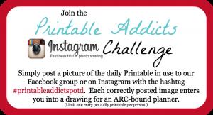 Printable Addicts Challenge #PrintableAddictsPOTD