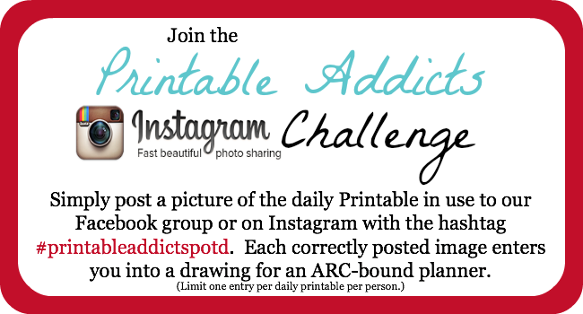 Printable Addicts Challenge #PrintableAddictsPOTD