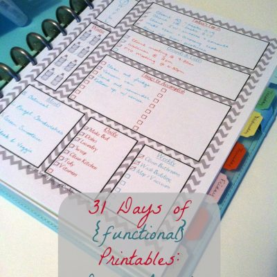 31 Days of {functional} Printables – Daily Agenda
