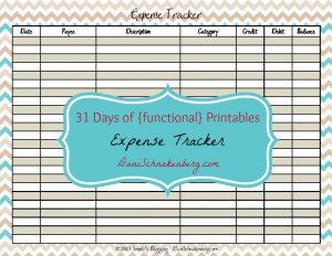31 Days of {functional} Printables - Expense Tracker | DaniSchnakenberg.com