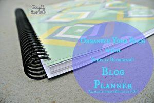 Simplify Blogging Planner