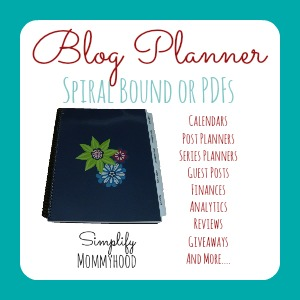 Simplify Blogging Planner