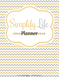 Simplify Life Planner Title Page - The Julia