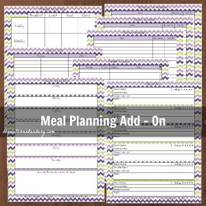Meal Planning Add-On  DaniSchnakenberg.com