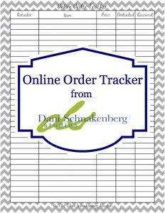 Online Order Tracker - DaniSchnakenberg.com