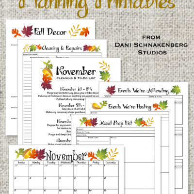Holiday Survival Guide 2014 – November Planning Printables