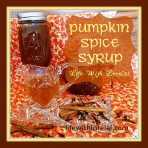 Pumpkin Spice Syrup from Life With Lorelai