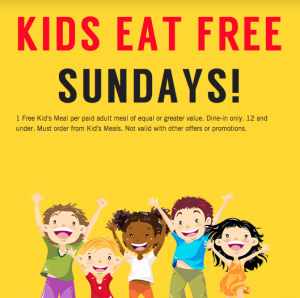 Kids Eat Free Sundays