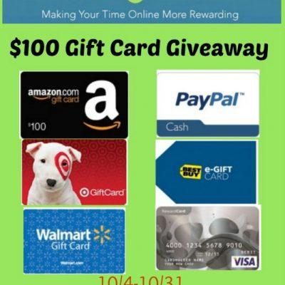 Swagbucks $100 Gift Card Giveaway