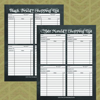 Are You a Black Friday or a Cyber Monday? {with Printables!}