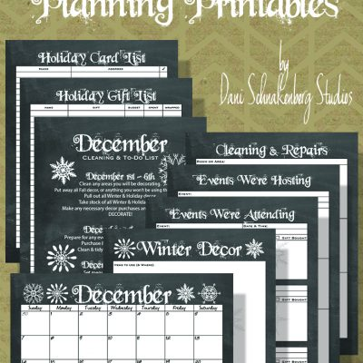 Holiday Survival Guide 2014 – December Planning Printables