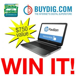 Win an HP Touchscreen Laptop ~ $750 value (Enter Daily, Thru 12/22) | BuyDig