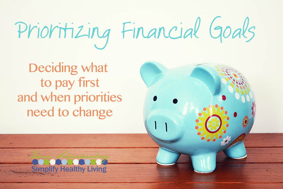Prioritizing Financial Goals