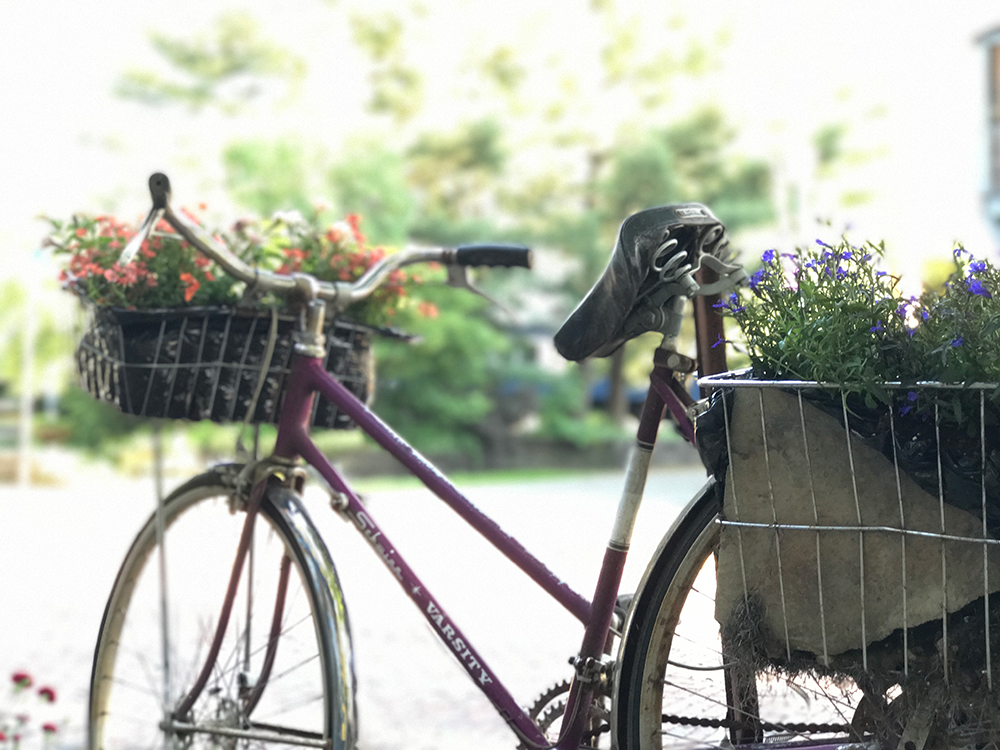 Upcycled Bike in Harmar Village | Marietta, Ohio