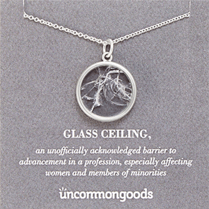 Glass Ceiling Necklace | Gift Idea from Uncommon Goods | Big Family Minimalist
