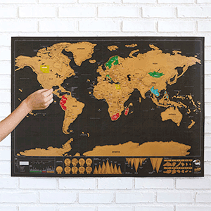 Scratch Map | Gift Idea from Uncommon Goods | Big Family Minimalist