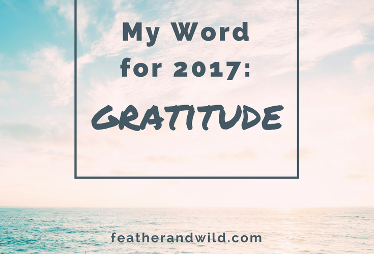 My Word for 2017: Gratitude | Big Family Minimalist