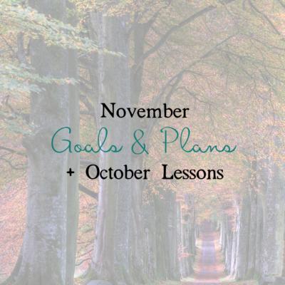 November Goals & Plans
