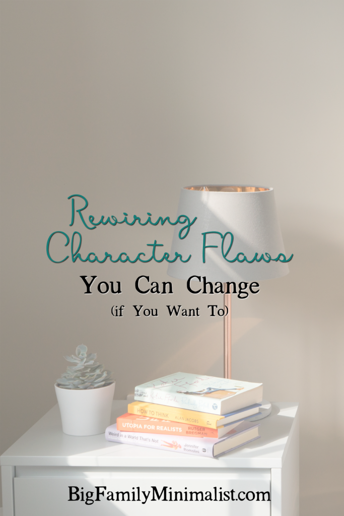 Rewiring Character Flaws | BigFamilyMinimalist.com