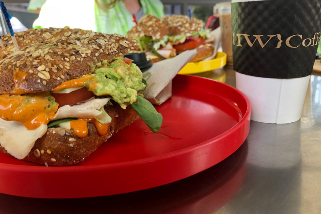 Sandwiches for lunch at IW coffee